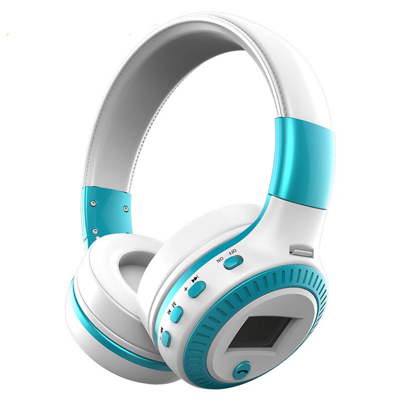 bluethooth headphones colour blue