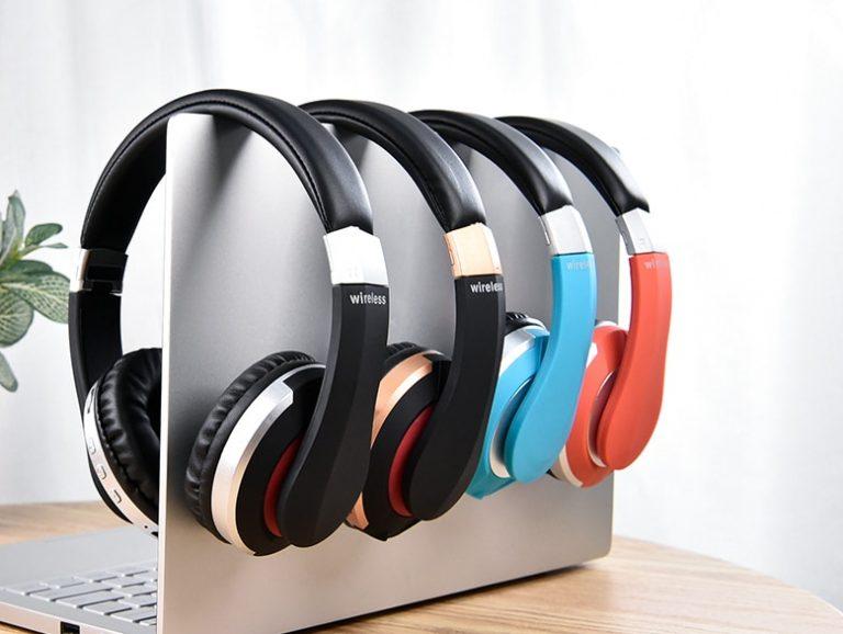 Different coloured headphones